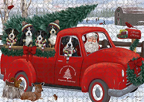 Top 3 recommendation greater swiss mountain dog santa puzzle