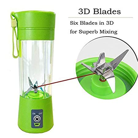 Amazon.com | [Upgraded version] Personal Blender, Portable Juicer Cup/Electric Fruit Mixer/USB Juice Blender, Rechargeable, Six Blades In 3D For Superb ...