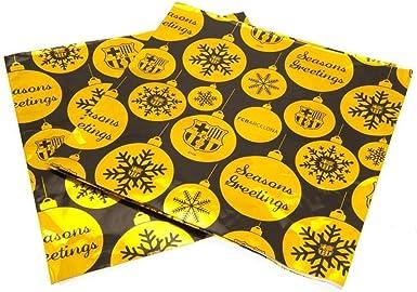FCB FC Barcelona - Papel de regalo para Navidad (Talla Única) (Amarillo): Amazon.es: Ropa y accesorios