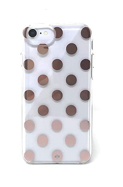 reputable site 9f336 47c9b Kate Spade New York Large Polka Dots Rose Gold/Clear Protective Case For  iPhone 8 / iPhone 7 / iPhone 6
