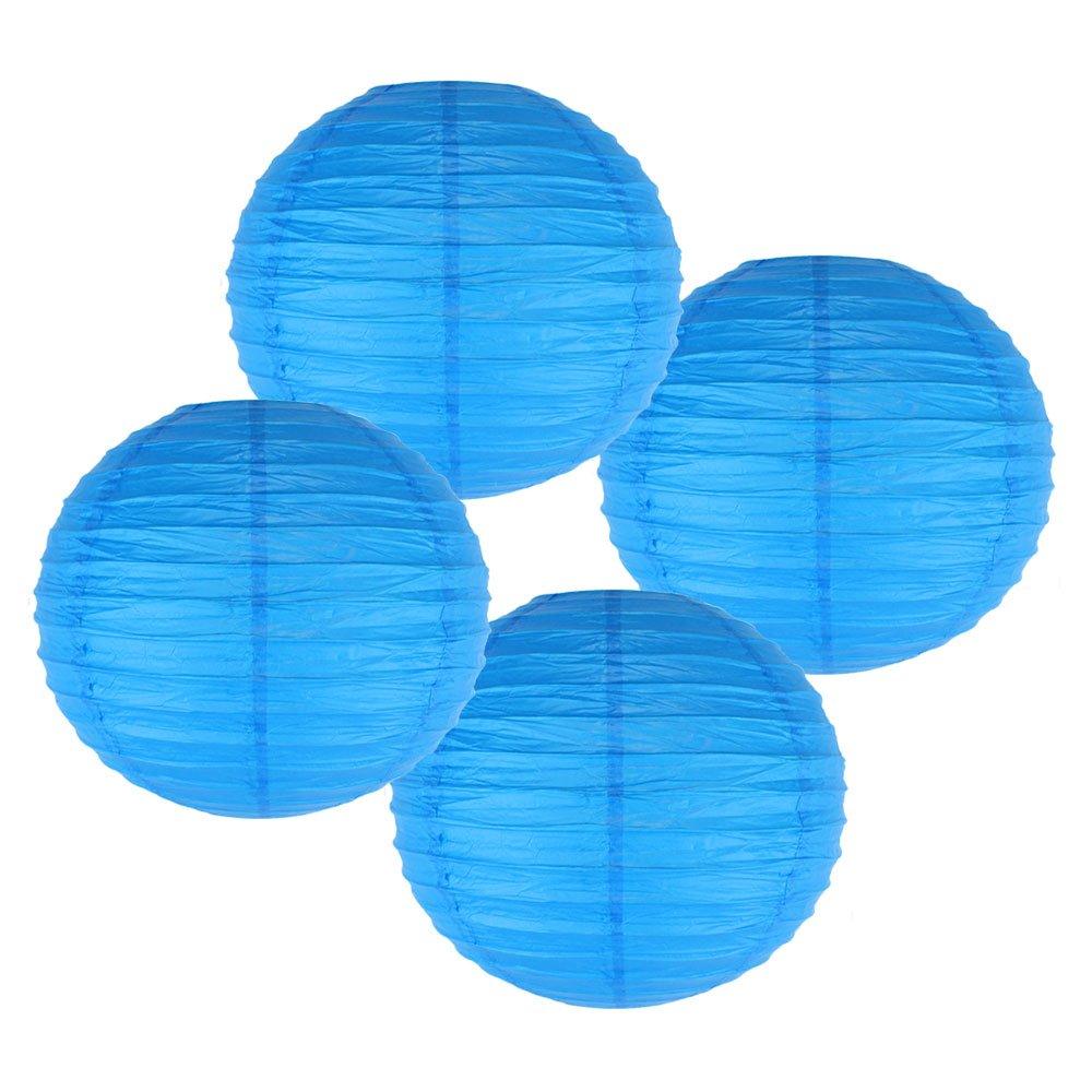 Just Artifacts 様々な紙製ランタン(色とサイズの異なる紙のランタン) 12inch AMZ-RPL4-120039 B01EGXLYV0 12inch|ブルー ブルー 12inch