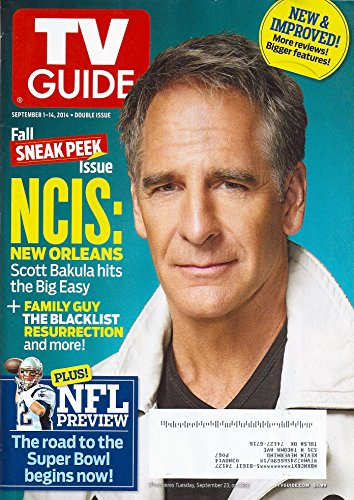 * FALL SNEAK PEEK DOUBLE ISSUE * Scott Bakula (NCIS: New Orleans), Tom Brady (NFL Preview), Adrien Brody (Houdini) - September 1-14, 2014 TV Guide Magazine