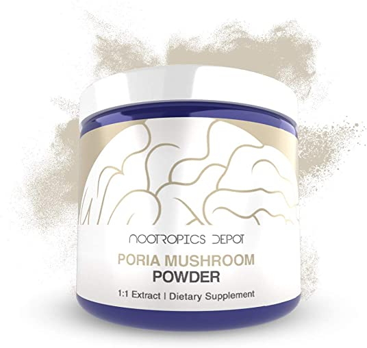 Poria Mushroom Powder 30 Grams Wolfiporia extensa Organic Whole Fruiting Body Extract Immune Supplement Promotes Healthy Cellular Function