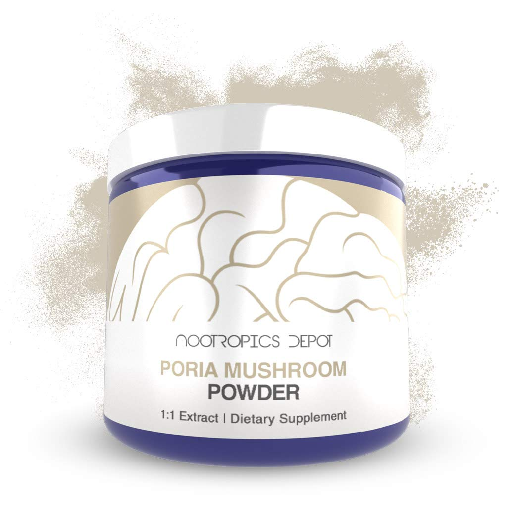 Poria Mushroom Powder 60 Grams Wolfiporia extensa Organic Whole Fruiting Body Extract Immune Supplement Promotes Healthy Cellular Function