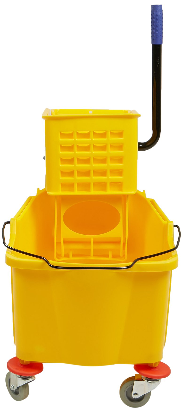 Mind Reader Commercial Mop Bucket - with Side Press Wringer - 38 Quart Capacity - Yellow