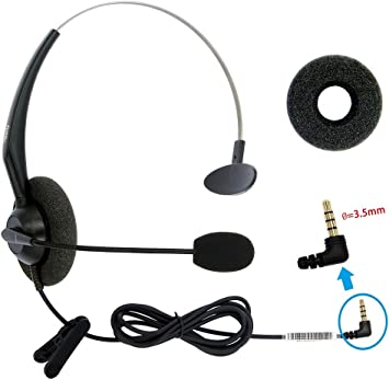 Amazon Com Dailyheadset 3 5 Mm Jack Hands Free Cell Phone Headset On Ear Headphones For Iphone Ipad Macbook Tablets Smartphones Android System Phones Home Audio Theater