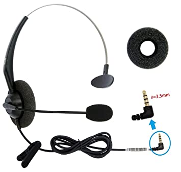 dailyheadset 3 5 mm jack hands free cell phone headset on ear headphones for iphone ipad macbook tablets smartphones & android system phones  cell phone headset jack wiring #10
