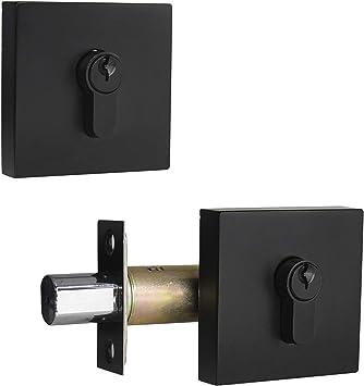 Latch Lock Keyed Alike Deadbolt Door Building Hardware Locking Lever Home Garden
