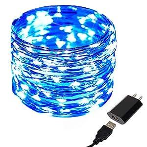 USB Fairy Light,CrazyFire Decorative String Lights,Copper Wire 100 LED Starry Lights Firefly Lights for Wedding Halloween(Blue Color)