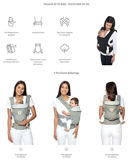 Amazon.com : Ergobaby Original Adapt - Azure Blue : Baby