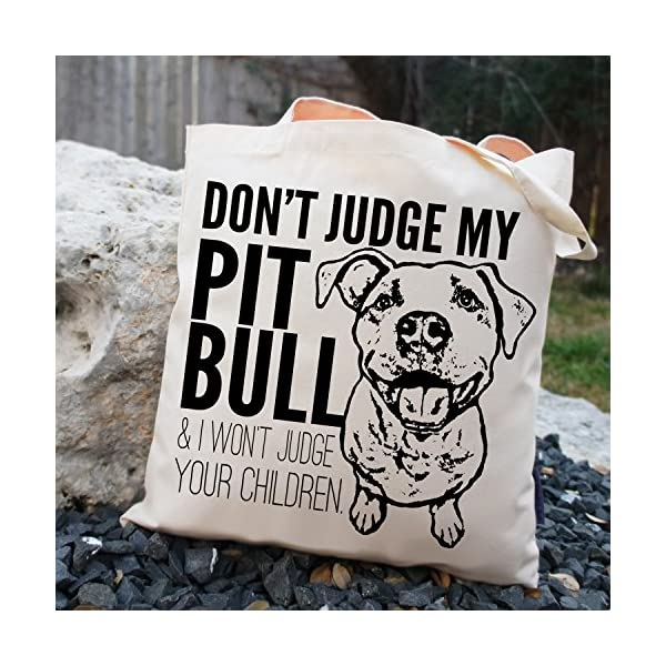 Don't Judge My Dog Tote Bag by Pet Studio Art 3