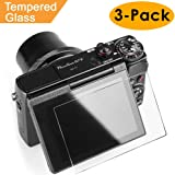 Glass Screen Protector for Canon G7X Mark II G9X G9XII G7X G5X Kimilar 3 Packs Anti-scratch Waterproof [Clear Touch] 9H Tempered Glass Screen Protection for G9X G9XII G7X G7XII G5X DSLR Camera