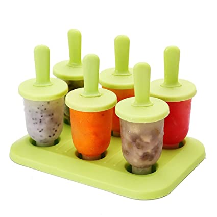 NEWELL DIY Silicone Popsicle Molds Set,Homemade Ice Cream Mold Set, Ice Cream Popsicle