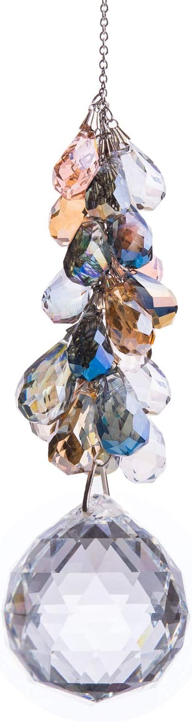 Details about  /Crystal Butterfly Prisms Ball Home Party Hanging Ornament Car Pendant Decor