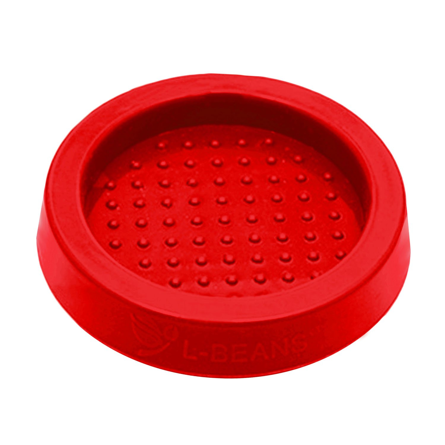 Silicone Espresso Coffee Tamper Stand Seat Mat Barista Tools for Tamping with the Portafilter Red