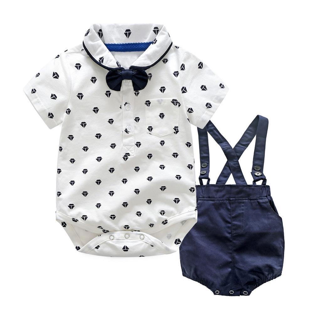 ... Niño 6-36meses Ropa Verano, Niños Mameluco Manga Corta Pantalones Gentleman + Conjunto de Pantalón Corto: Amazon.es: Ropa y accesorios