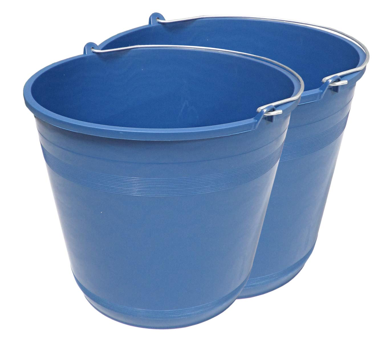 Pack de 2 Cubos Agua Plá stico Reciclado 6 Litros (Azul) PROMOPASTOR. S.L.