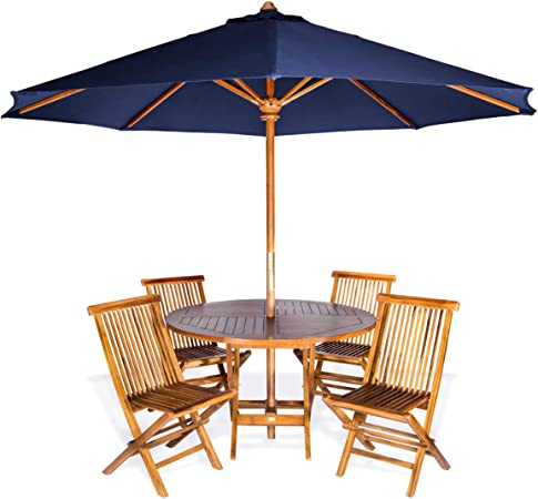 Teak Patio Table With Umbrella | F Wall Decoration