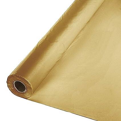 Amazon Com Metallic Gold 40 X 300 Ft Economy Banquet Roll Plastic