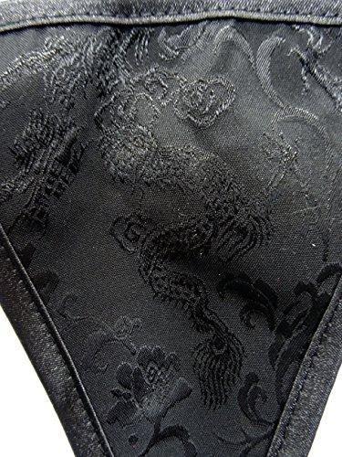 Burvogue String Black Dragon Tanga schwarz - Drachenmuster