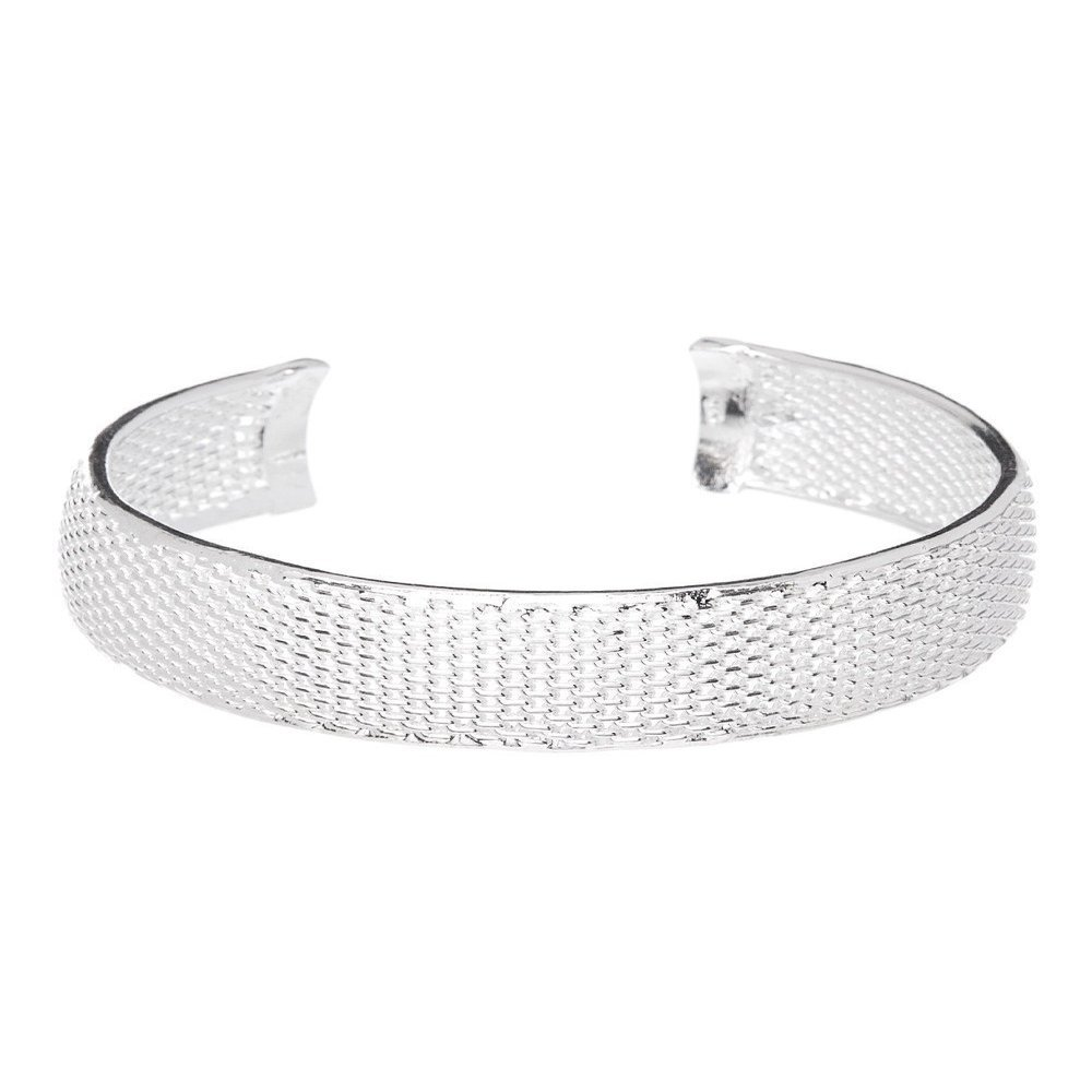 Hollywood Sensation Silver Bracelets for Women Bangle Bracelets : Mariah Bracelet Bangle 925 Sterling Silver Plated Adjustable Wide Cuff Bangle, Bracelet Bangle for Women