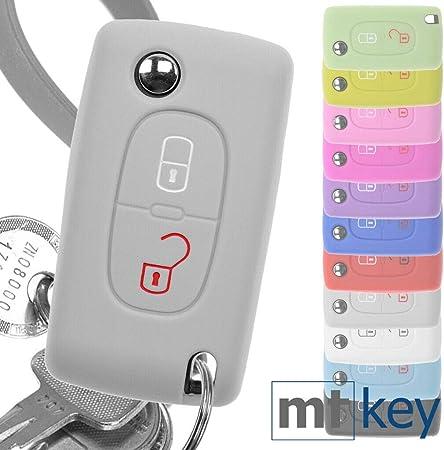 Soft Case Auto Schlüssel Silikon Schutz Hülle Grau Elektronik
