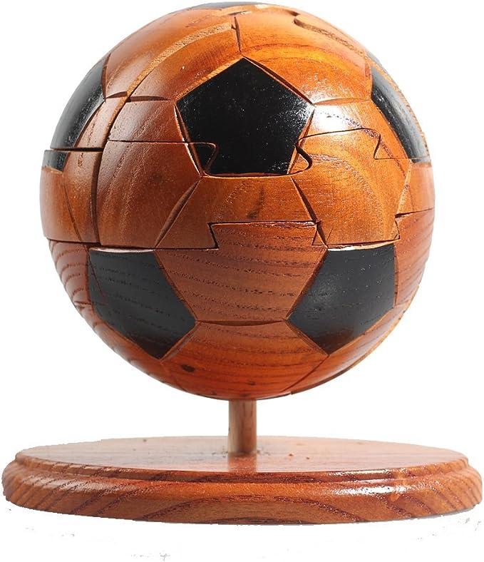 HAHAone Balón de fútbol de 3D Bloques de madera del rompecabezas de rompecabezas de deportes Juegos de los niños juguetes de madera para la Copa de Europa: Amazon.es: Juguetes y juegos