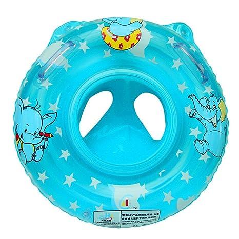 ReachTop - Flotador hinchable de natación para bebé, azul: Amazon ...