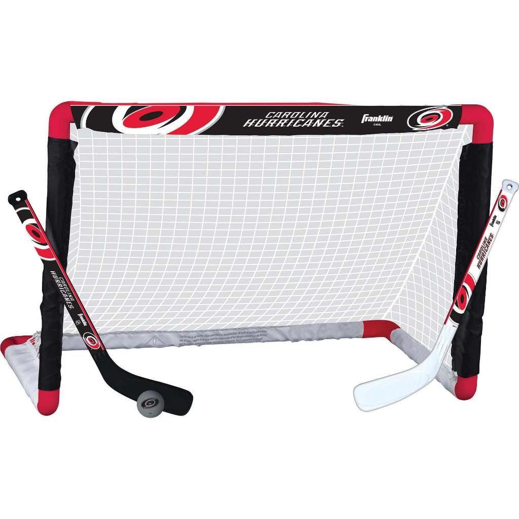 Franklin Sports NHL Team Licensed Mini Hockey Knee Hockey Goal NHL Official Licensed Product 28 x 20 Goal Net Ball /& 2 Stick Combo Set