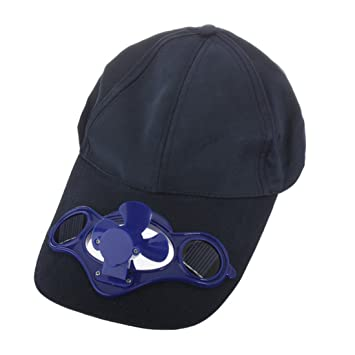 Solar Powered Air Fan Cooled Baseball Hat w  Solar Panel on the Cap Front  Eco 04f2b7547a6