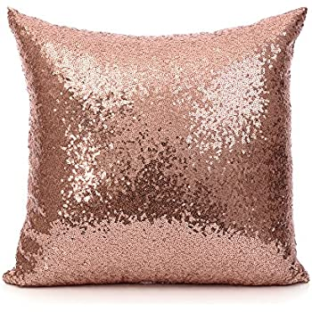 Amazon 40 Inch 40 Cm Europe Luxurious Sequin Pillow Cushion Inspiration Rose Gold Decorative Pillows