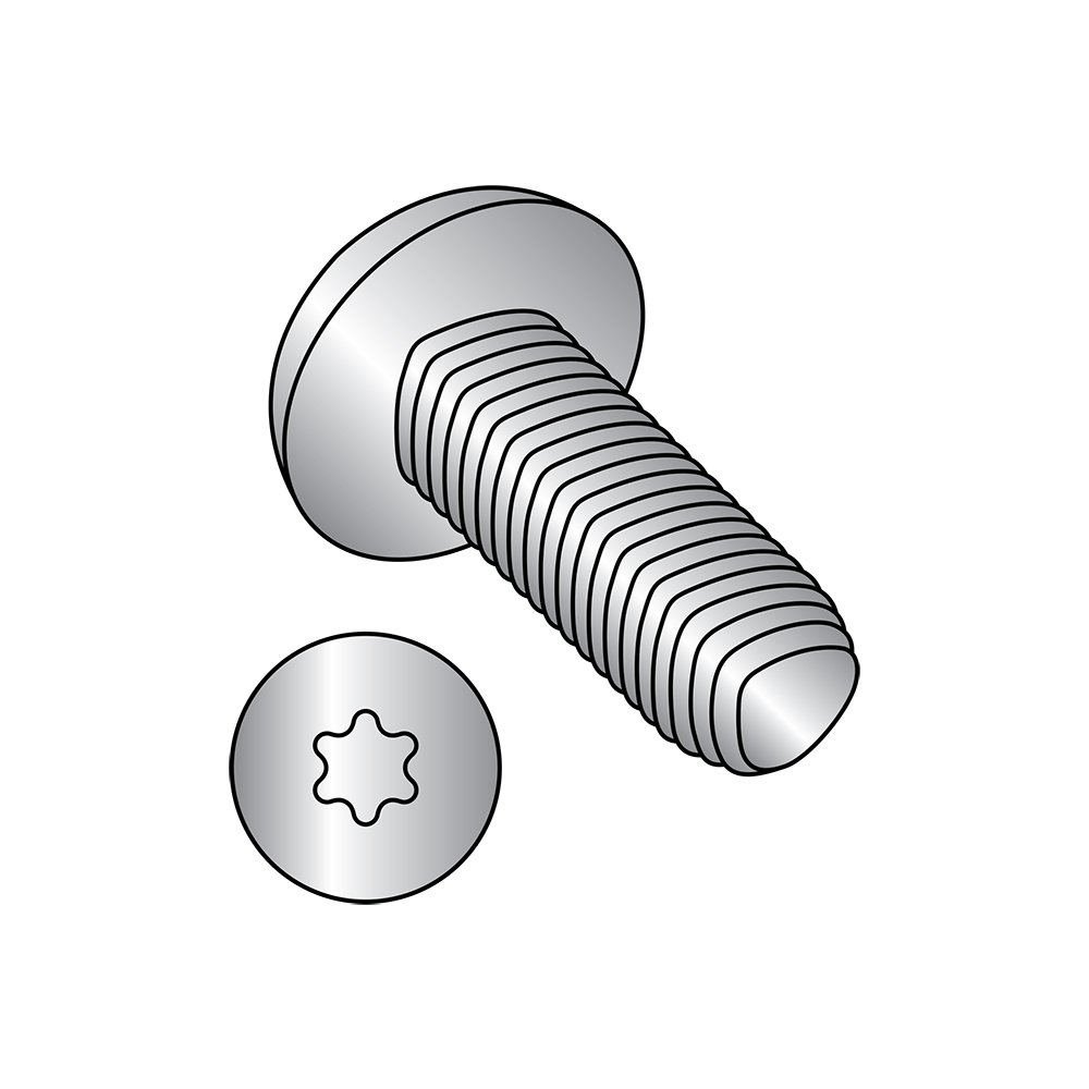 Steel Thread Rolling Screw for Metal 1//2 Length Zinc Plated Pan Head Pack of 50 Star Drive 1//4-20 Thread Size
