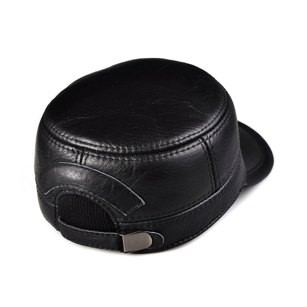 8a6f3847300 Amazon.com  lethmik Vintage Military Hats Cadet Hat Army Hats Style Genuine  Leather Camo Hats  Clothing