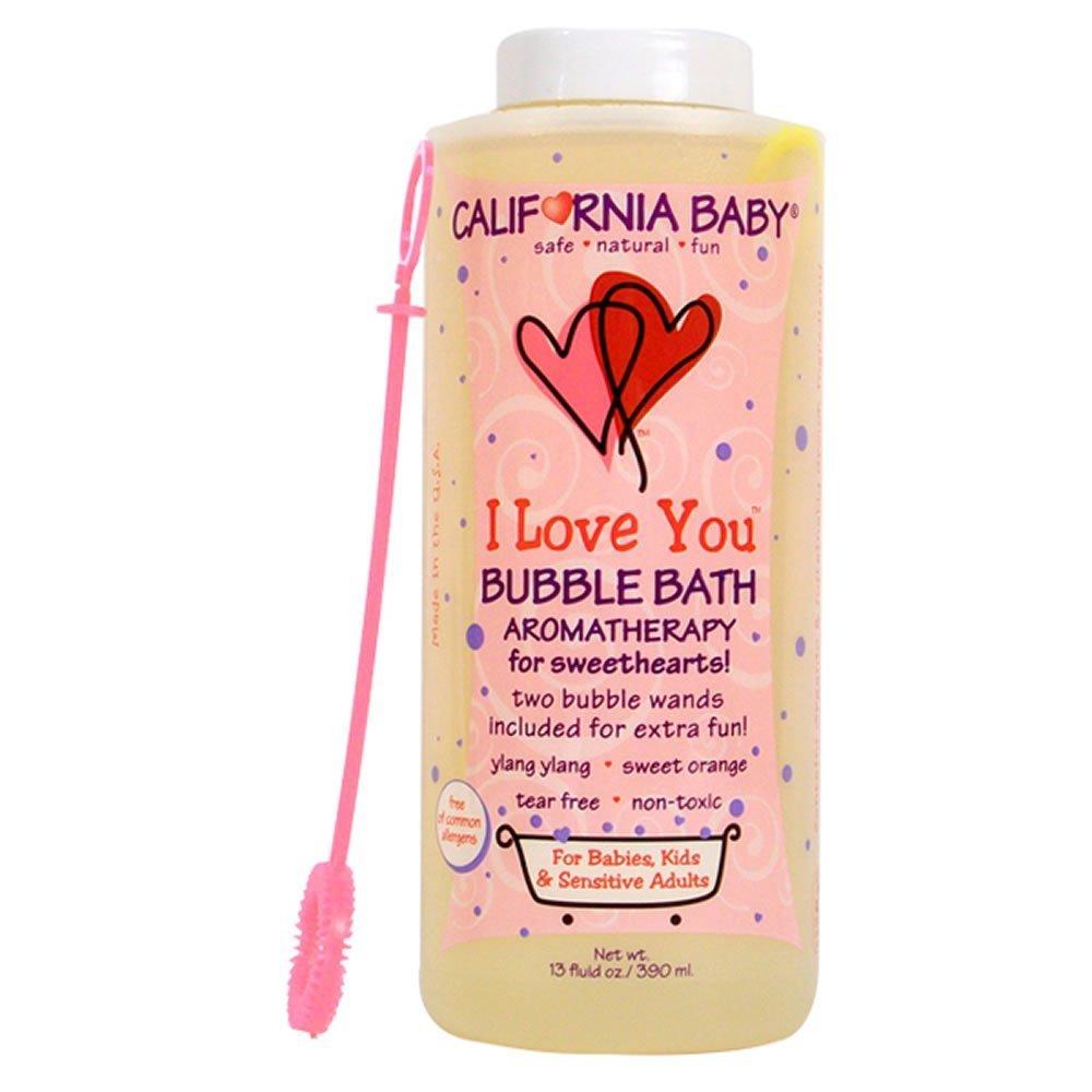 California Baby I Love You Bubble Bath   No Tear   Pure Essential Oils for Bathing   Hot Tubs, or Spa Use   Moisturizing Organic Aloe Vera and Calendula Extract  (13 fl. ounces) by California Baby