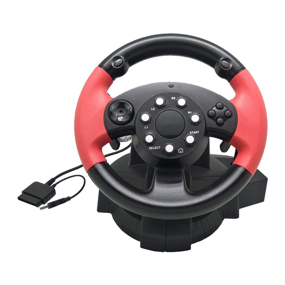 TODAYTOP for FT33 Series 200° Rotation Angle Game Steering Wheel Racing Wheel Dual Motor Vibration for PS 3/PS 2/PC (D-Input/X-Input/Steam by TODAYTOP (Image #6)