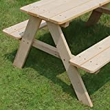 Merry Garden Kids Wooden Picnic Bench Outdoor Patio