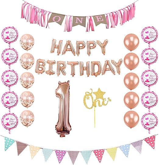 Amazon.com: Primera fiesta de cumpleaños decoraciones para ...