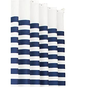 navy blue and white striped shower curtain. Moolecole New Blue and White Striped Navy Style Curtain Bathroom Shower  Curtains Thick Waterproof Mildew Polyester