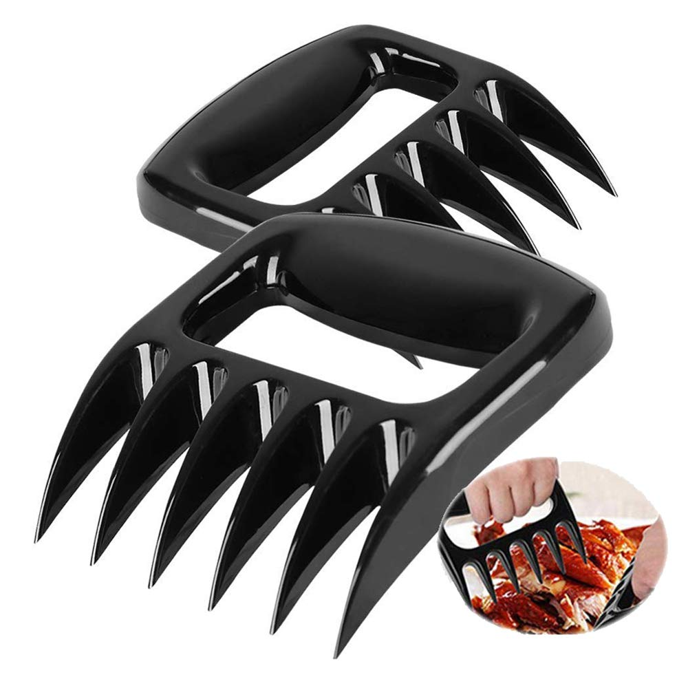 RESNSTAR Pulled Pork Shredder Claws, Bear Paws Meat Claws for Shredding Handling & Carving Food, BPA Free BBQ Forks, Set of 2 Bear Claws