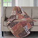 quilted throw polyester - SLPR Red Riches Printed Quilted Throw Blanket (50