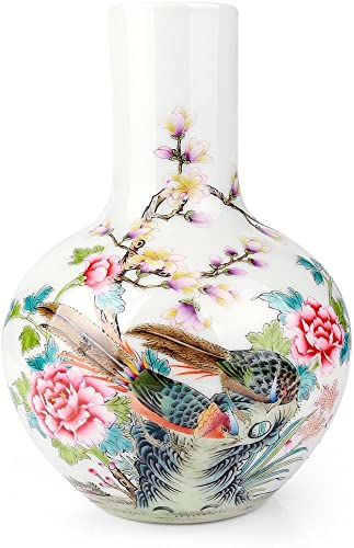 Traditional Chinese Ceramic Decorative Jar Vase,Jingdezhen Oriental Handcrafted Porcelain Decro