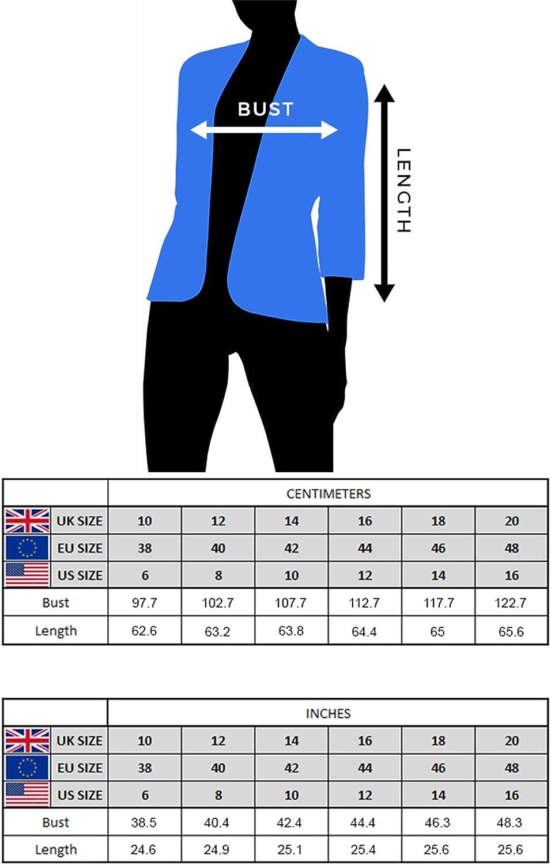 Style d/écontract/é Chic pour Occasions sp/éciales Roman Originals Femmes Veste en Dentelle /à p/étales et Manches /¾ Vestes Style Blazer Tendance Transparentes et l/ég/ères