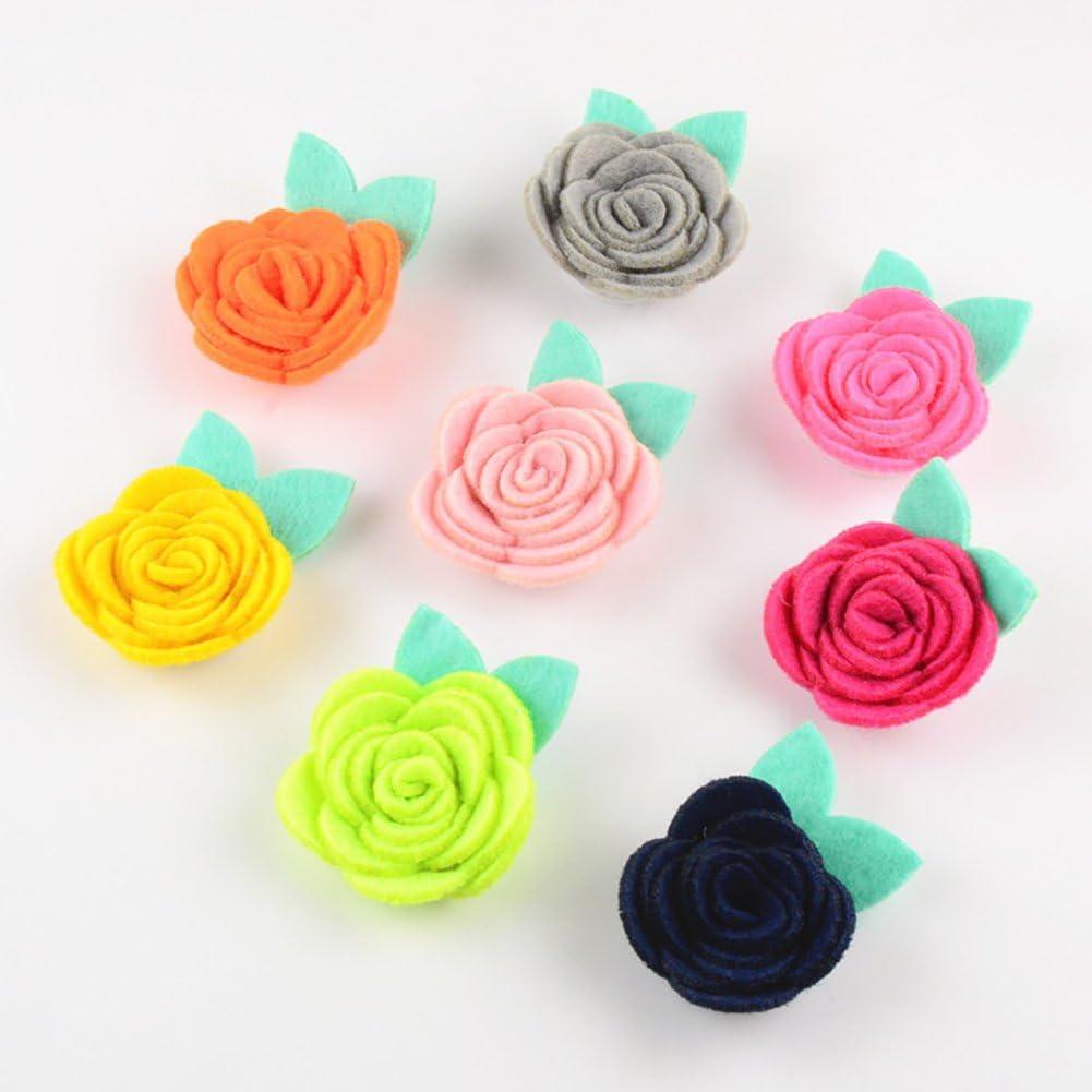 30 color Colori assortiti Baby DIY fasce per capelli con fiore decorativo matrimonio fiori Handmade Ribbon Flowers donne ragazze chiffon tessuto fiori 1.57 Inch