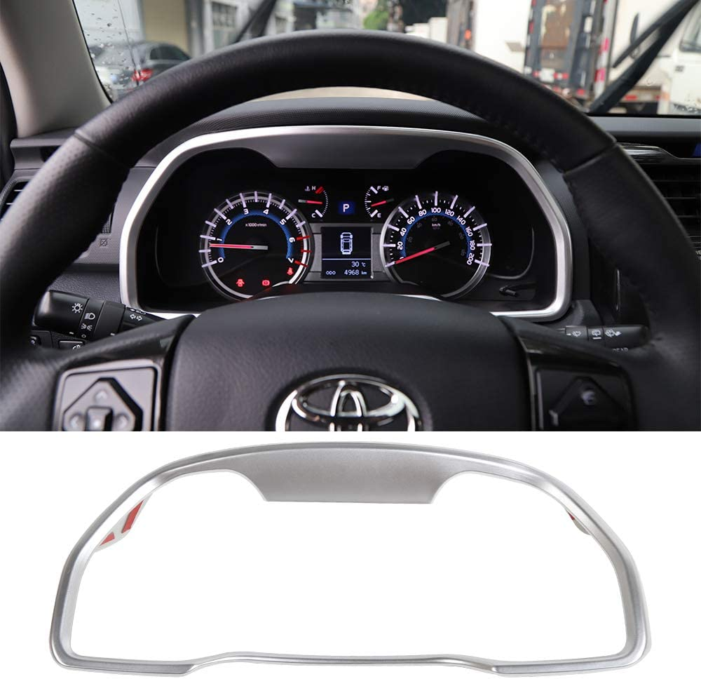 for 4Runner 2010-2021 Leather Interior Accessories Carkooler DIY Stitching Carbon Fiber Steering Wheel Cover for Toyota Tacoma 2012-2021 for Tundra Sequoia 2014-2021