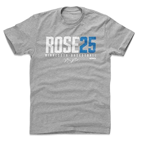 63bba95b4 500 LEVEL Derrick Rose Cotton Shirt Small Heather Gray - Vintage Minnesota  Basketball Men s Apparel -