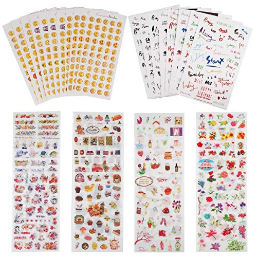 Planner Stickers Value Pack (Assorted 1877 PCS, 44 Sheets) - Decorative Sticker Collection for Scrapbooking, Calendars, Arts, Kids DIY Crafts, Album, Bullet Journals by Knaid -
