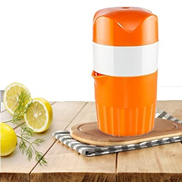 oumeiou portátil Manual exprimidor mano naranja limón Exprimidor mini zumo de frutas de viaje fácil de limpiar: Amazon.es: Hogar