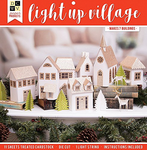 Dcwv Holiday Project Stack-Christmas Village - Makes 7 Buildings