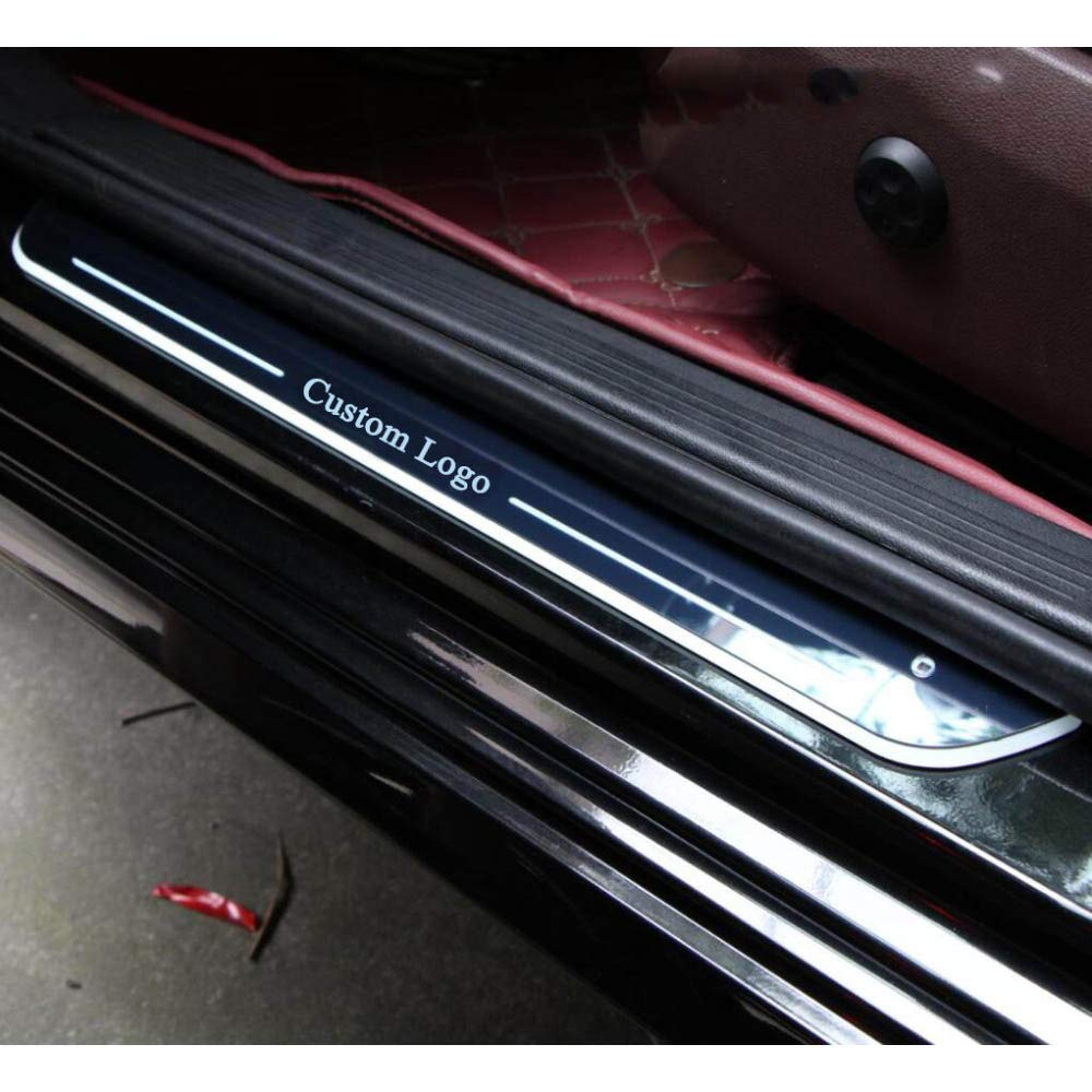 f/ür Renault Alpine A110 YXSMTB Kundengebundenes 4PCS impr/ägniern fl/üssiges LED-Licht-Willkommens-Pedal-Auto-Verschlei/ßblech-Pedal-Schwellen-T/ürschwelle/////