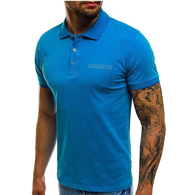KaloryWee T Shirt Polo Shirts Hemd Herren 2019 Poloshirt M/änner Hemden Kurzarm B/ügelfrei Comfort Langarm Slim Fit Bluse T-Shirts mit Brusttasche